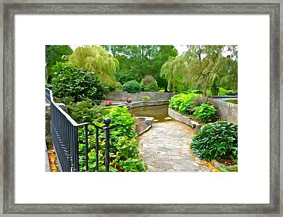 Enter The Garden Framed Print by Charlie and Norma Brock