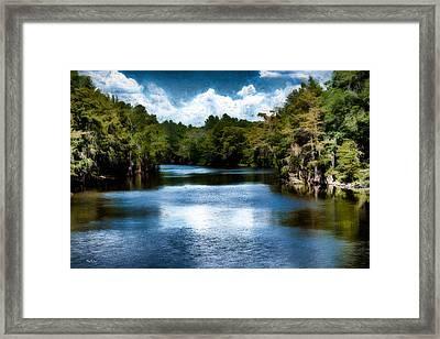 Louisiana - Bayou - Enter The Swamp Framed Print by Barry Jones