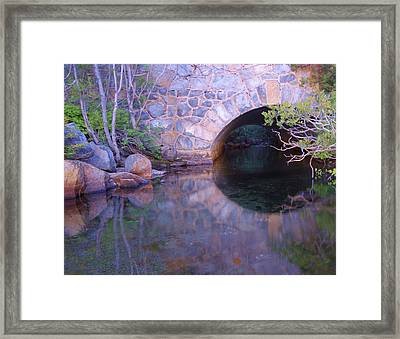 Enter The Tunnel Of Love  Framed Print
