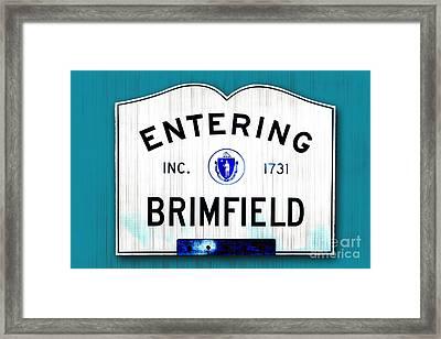 Entering Brimfield Framed Print by K Hines