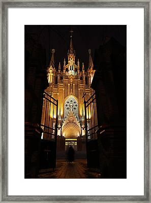Entering Cathedral Framed Print