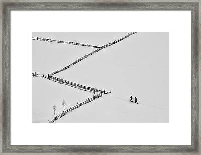 Entering Geometry Framed Print