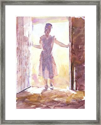 Entering Framed Print by Jeff Mathison