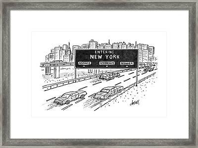 Entering New York: Beginner Framed Print