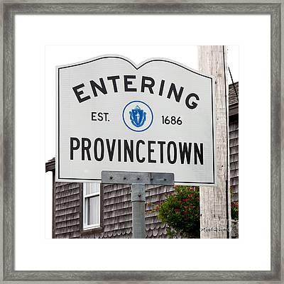 Entering Provincetown Framed Print