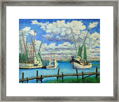 Entering Shem Creek Framed Print