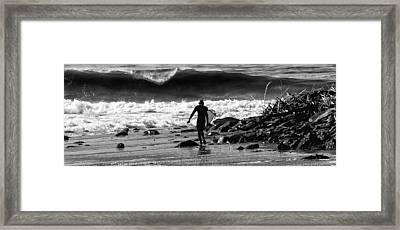 Entering The Battle Zone Framed Print by Ron Regalado