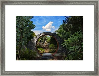 Entering The Garden Gate Framed Print