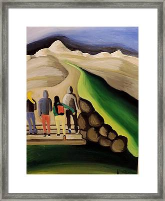 Framed Print featuring the painting Entering The Promised Land  by Inga Kirilova