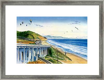 Entering Torrey Pine's Beach Framed Print