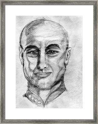 Enterpizing Picard Framed Print by Madeline Moore