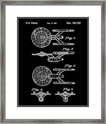 Enterprise Toy Figure Patent - Black Framed Print