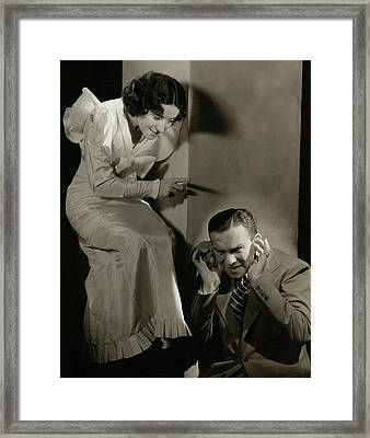 Entertainers George Burns And Grace Allen Framed Print