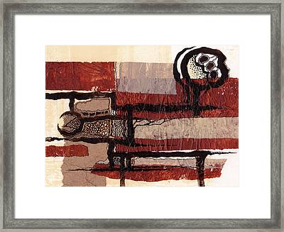 Entertaining The Clowns 2 Framed Print by Buck Buchheister