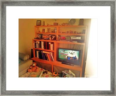 Entertainment Center Nis  Framed Print by Unique Consignment