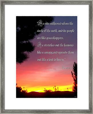 Enthroned Above Framed Print by Glenn McCarthy Art and Photography