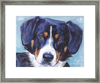 Entlebucher Mountain Dog Framed Print by Lee Ann Shepard