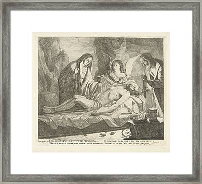 Entombment Of Christ, Guillaume Duvivier 17e Eeuw Framed Print by Guillaume Duvivier