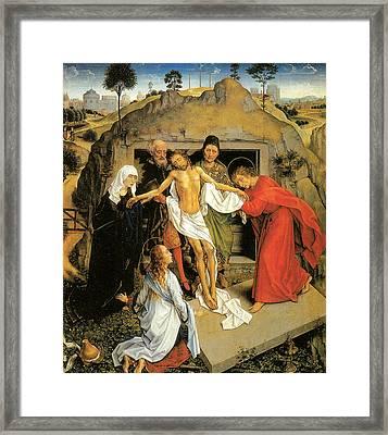 Entombment Of Christ Framed Print by Rogier Van Der Weyden