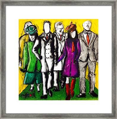 Entourage Framed Print by Helen Syron