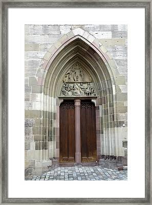 Entrance Door Church Framed Print by Matthias Hauser