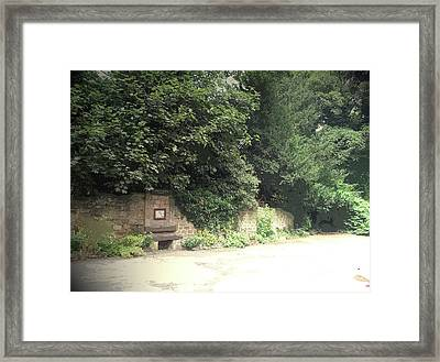 Entrance Door To Demolished Hall, Garden Portal Framed Print by Litz Collection