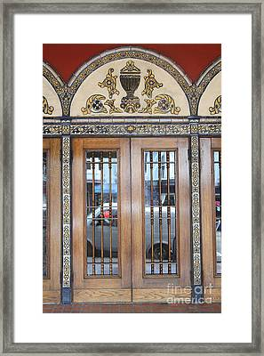 Entrance Doors At The Castro Theater In San Francisco . 7d7615 Framed Print by Wingsdomain Art and Photography