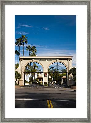 Entrance Gate To A Studio, Paramount Framed Print