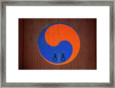 Entrance Gate To The Hwaseong Haenggung Framed Print by Michael Runkel