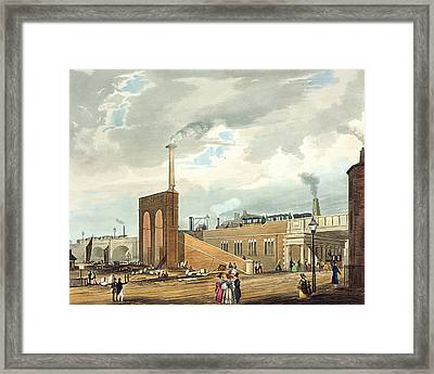 Entrance Into Manchester Across Water Framed Print by Thomas Talbot Bury