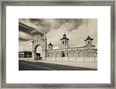 Entrance Of A Winery, Chateau Cos Framed Print