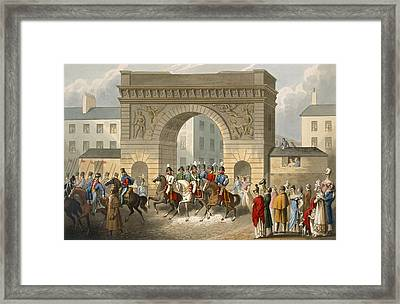 Entrance Of The Allies Into Paris Framed Print
