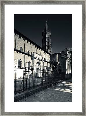 Entrance Of The Basilica Of St. Sernin Framed Print by Panoramic Images