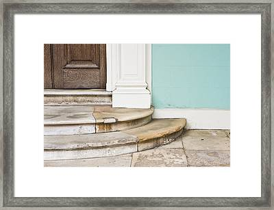 Entrance Steps Framed Print by Tom Gowanlock