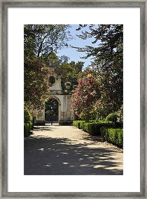 Framed Print featuring the photograph Entrance To A Secret Garden by Sandy Molinaro