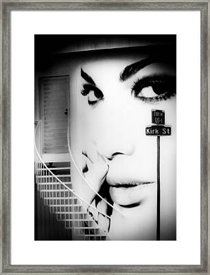 Entrance To A Woman's Mind Framed Print by Karen Wiles