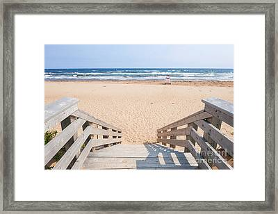 Entrance To Atlantic Beach Framed Print by Elena Elisseeva