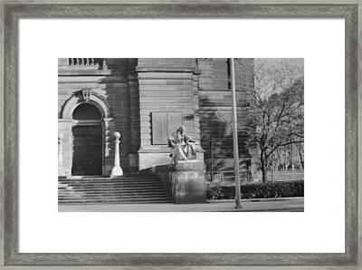 Entrance To Carnegie Framed Print by Joann Renner