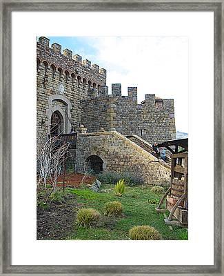 Entrance To Castello Di Amorosa In Napa Valley-ca Framed Print