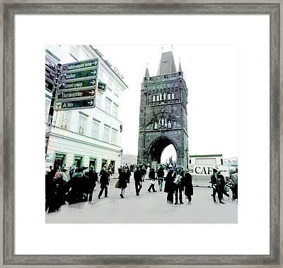 Entrance To Charles Bridge Prague Framed Print