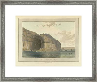Entrance To Fingal's Cave Framed Print by British Library
