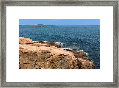 Entrance To Frenchman Bay Framed Print by John M Bailey