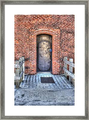 Entrance To Little Sable Lighthouse Framed Print