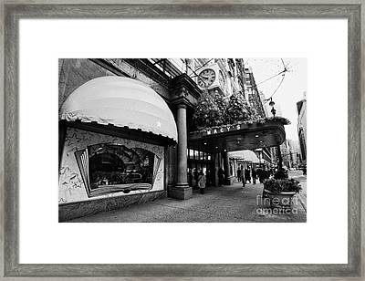entrance to Macys department store on Broadway and 34th street at Herald square christmas Framed Print