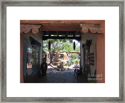 Framed Print featuring the photograph Entrance To Market Place by Dora Sofia Caputo Photographic Art and Design