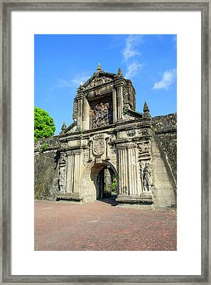 Entrance To Old Fort Santiago Framed Print