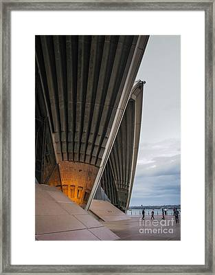 Entrance To Opera House In Sydney Framed Print by Jola Martysz