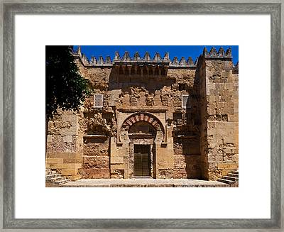 Entrance To The 10th Century Mezquita Framed Print