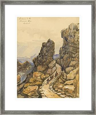 Entrance To The Almanna Gau Circa 1862 Framed Print by Aged Pixel