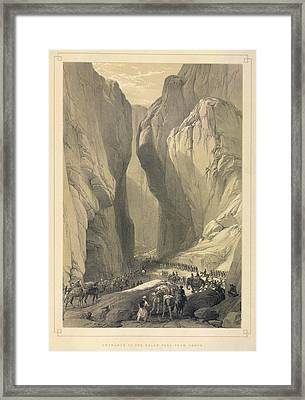 Entrance To The Bolan Pass Framed Print by British Library